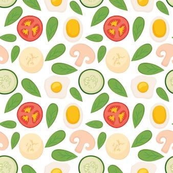 건강 식품 완벽 한 패턴