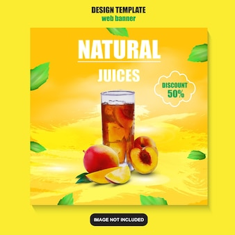 Healthy food social media promotion template