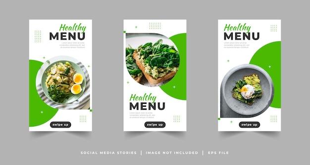 Healthy food social media stories