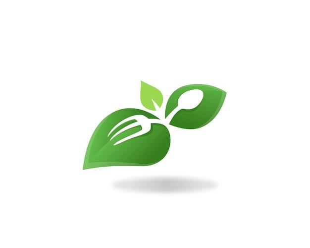Healthy food and vegan logo label