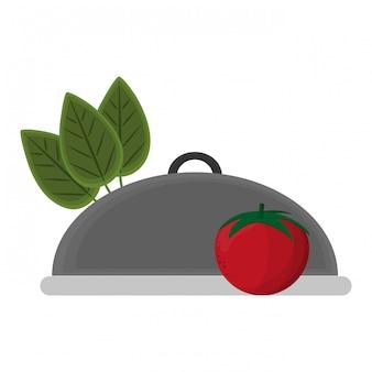 Здоровая еда, овощи и блюдо купола