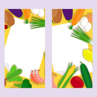 Healthy food vertical banners