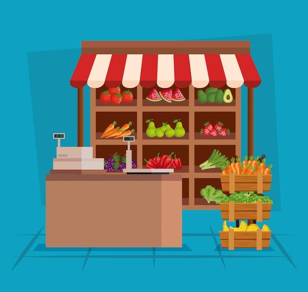 健康的な果物と新鮮な野菜の栄養