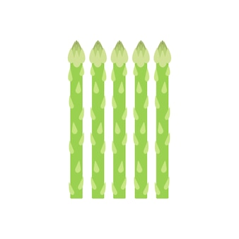Healthy green asparagus graphic illustration