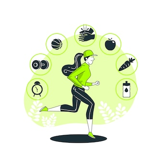 Healthy habitconcept illustration
