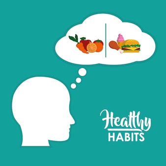 Healthy habits food nutrition concept