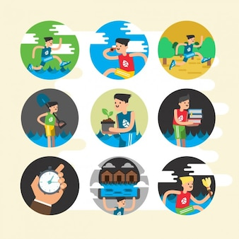 Healthy icons design