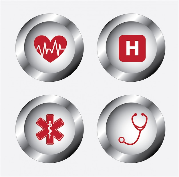 Healthy icons gray