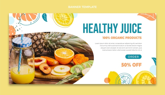健康ジュースバナーテンプレート