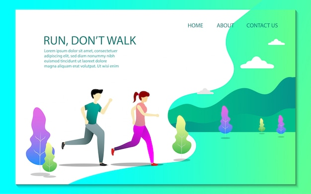 Healthy landing page template