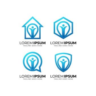 Healthy life logo design collection
