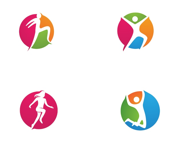 Healthy life logo template vector icons
