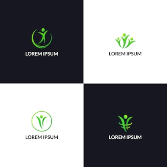 Healthy life people logo icon template