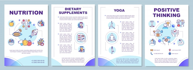 Healthy lifestyle brochure template