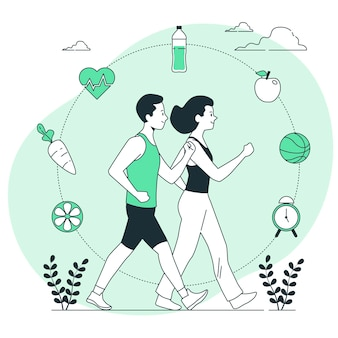 Healthy lifestyle concept illustration