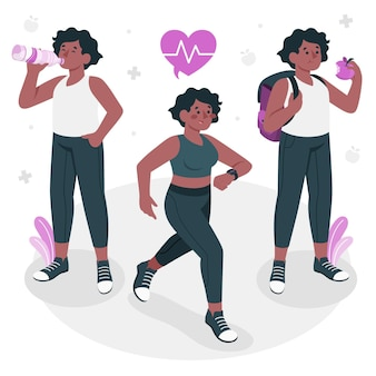 Healthy lifestyleconcept illustration