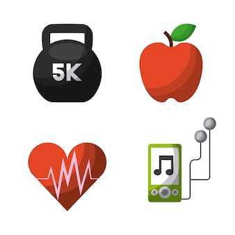 Healthy lifestyle concept related icons