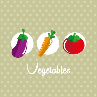 Healthy lifestyle over dotted background vector illustration