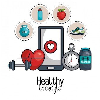 Healthy lifestyle element concept design