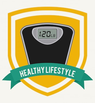 Healthy lifestyle graphic design