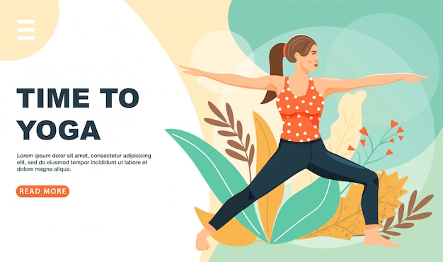 Healthy lifestyle and yoga web template.