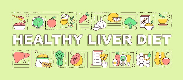 Healthy liver diet banner