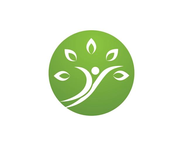 Healthy logos template