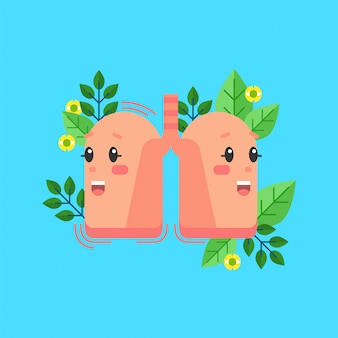 Healthy lungs character, respiratory system
