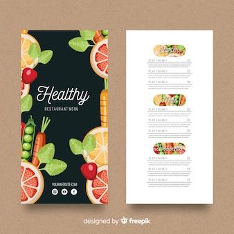 Healthy menu template