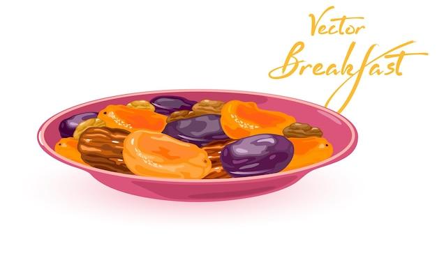 健康的な栄養価の高いビタミン化されたドライフルーツ