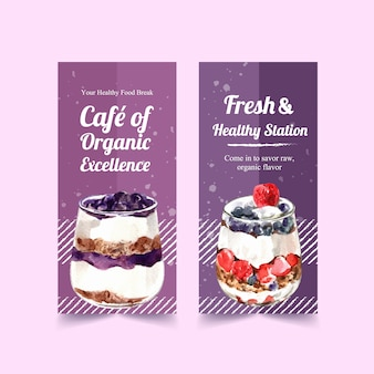 Healthy and organic food vertical banner template design