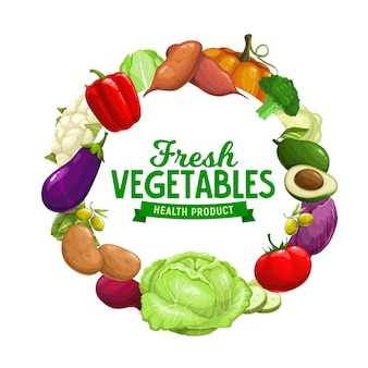 Healthy organic vegetables, farm garden harvest