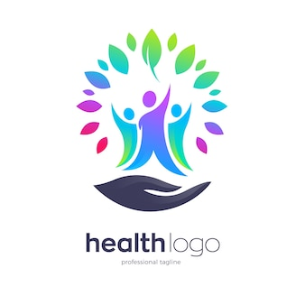Healthy people community logo