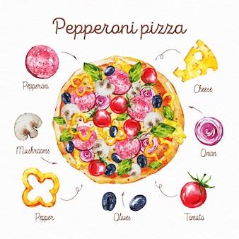ヘルシーペパロニピザのレシピ