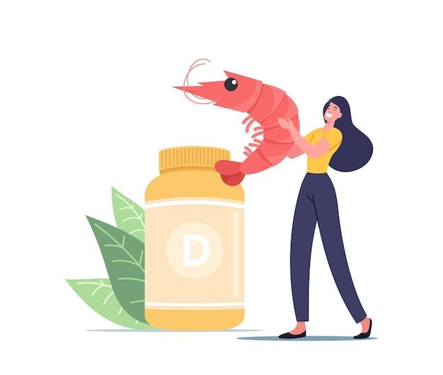 Здоровые продукты или продукты питания содержат витамин d, пищевые добавки для здоровья Premium векторы