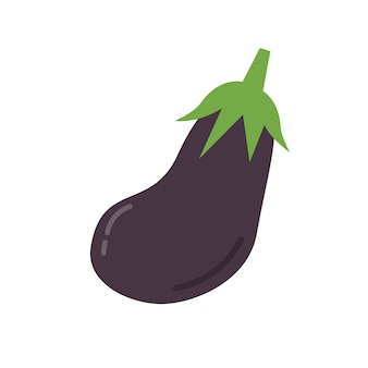 Healthy purple aubergine graphic illustration