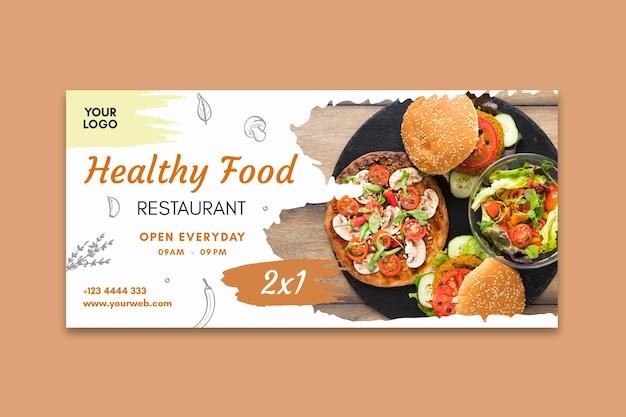 Healthy restaurant banner