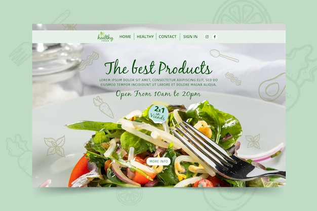 건강한 식당 방문 페이지