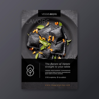 Healthy restaurant vertical flyer template
