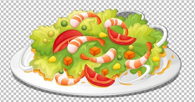 Una sana insalata su sfondo trasparente