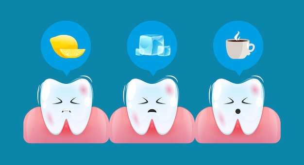 Healthy and sensitive tooth