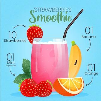 Healthy smoothie recipe illustration