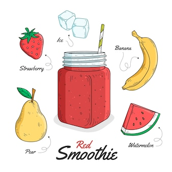 Healthy smoothie recipe theme