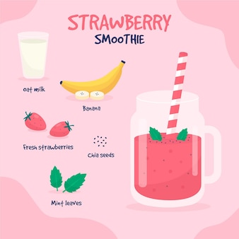Healthy smoothie recipe with banana