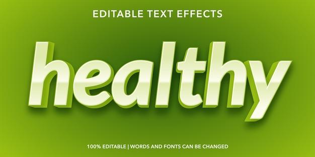 健康的なテキストスタイルの編集可能なテキスト効果