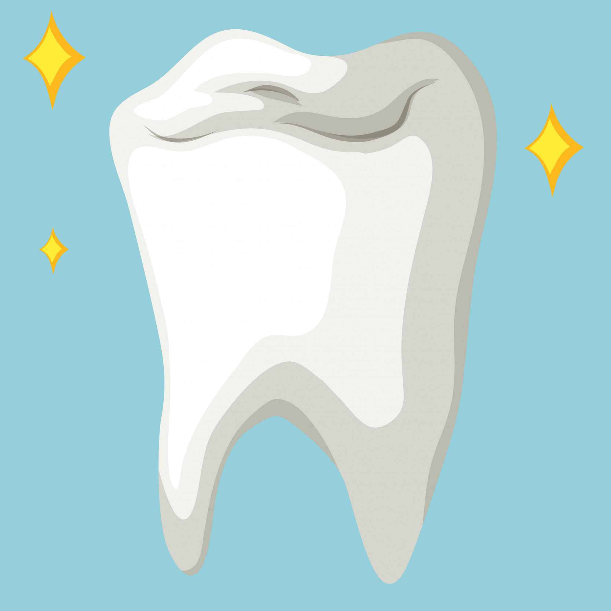 Healthy tooth in close up