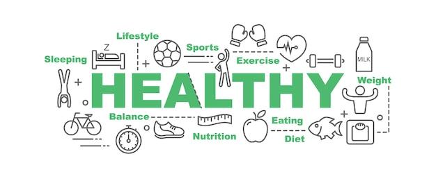 Healthy vector banner