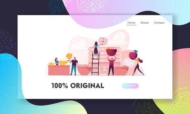 Healthy vega and vegetarian nutrition landing page template.