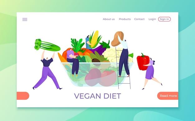Здоровая веганская диета с натуральными продуктами