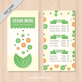 Здоровый шаблон меню веганский